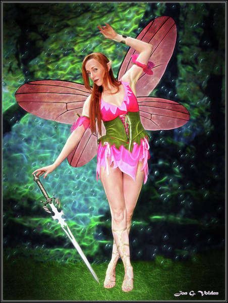 Photograph - Dance Of The Pink Fairy by Jon Volden
