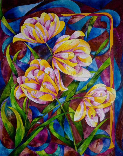 Painting - Dance Of The Tulips by Sherry Shipley