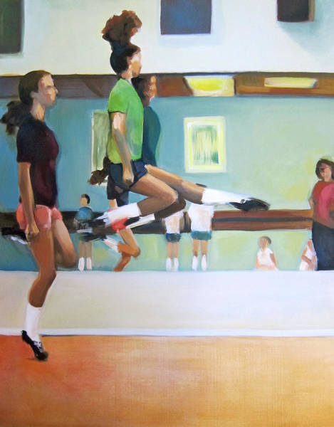 Irish Dance Painting - Dance Practice 1 by Nicole McKeever