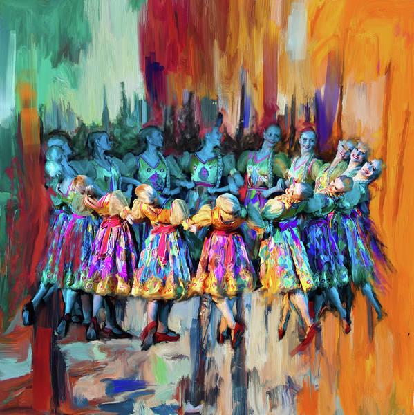 Figure Skating Painting - Dancer 263 2 by Mawra Tahreem