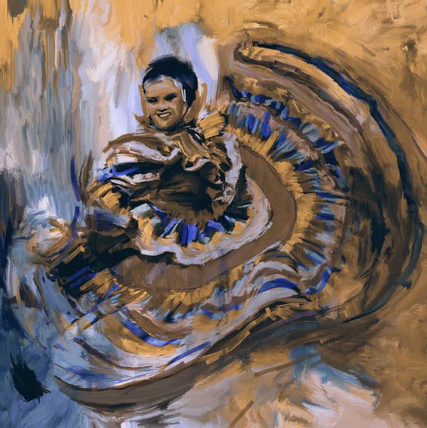 Figure Skating Painting - Dancer 266 3 by Mawra Tahreem