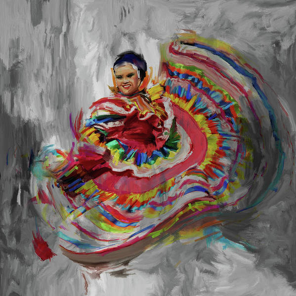 Figure Skating Painting - Dancer 266 4 by Mawra Tahreem