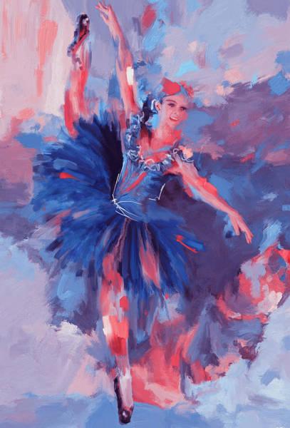 Figure Skating Painting - Dancer 281 3 by Mawra Tahreem