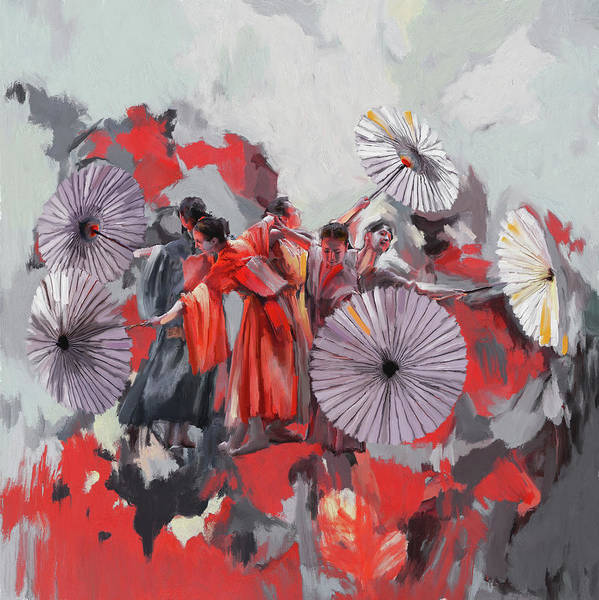 Figure Skating Painting - Dancer 282 2 by Mawra Tahreem