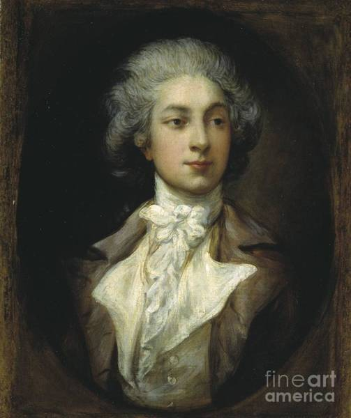 Thomas Gainsborough Wall Art - Painting - Dancer Auguste Vestris   by MotionAge Designs