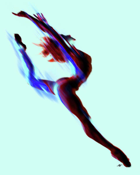 Painting - Dancer Impressionist Painting Acrylic Color Change by Tony Rubino