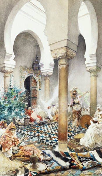 Belly Dancing Painting - Dancer In A Harem by Gustavo Simoni