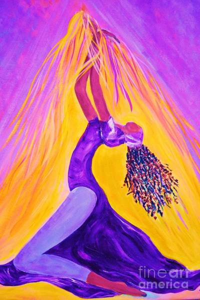 Outfit Digital Art - Dancer In Purple by Ruth Yvonne Ash