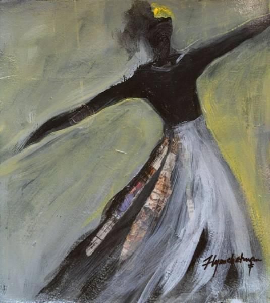 Paper Dress Mixed Media - Dancer by Lynn Chatman