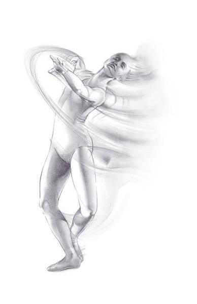 Dancer Drawing - Dancer by Todd Baxter