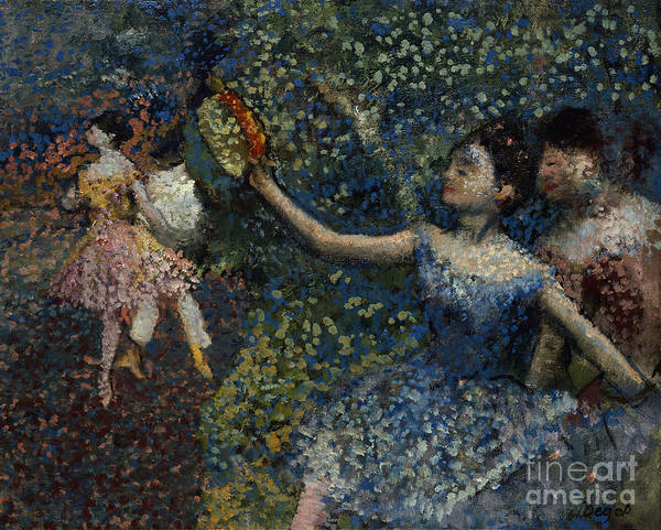 1897 Painting - Dancer With A Tambourine by Edgar Degas