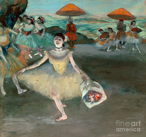 1834 Wall Art - Painting - Dancer With Bouquet by Edgar Degas
