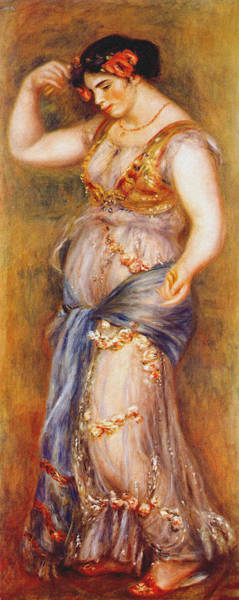 Latina Painting - Dancer With Castanettes 1909 by Auguste Renoir