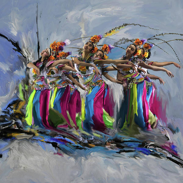 Figure Skating Painting - Dancers 264 1 by Mawra Tahreem