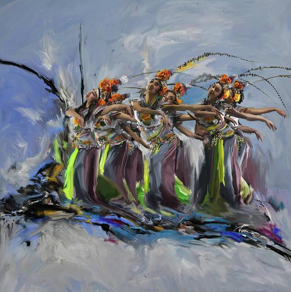 Figure Skating Painting - Dancers 264 2 by Mawra Tahreem