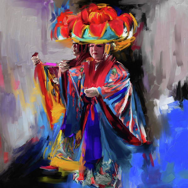 Figure Skating Painting - Dancers 269 1 by Mawra Tahreem