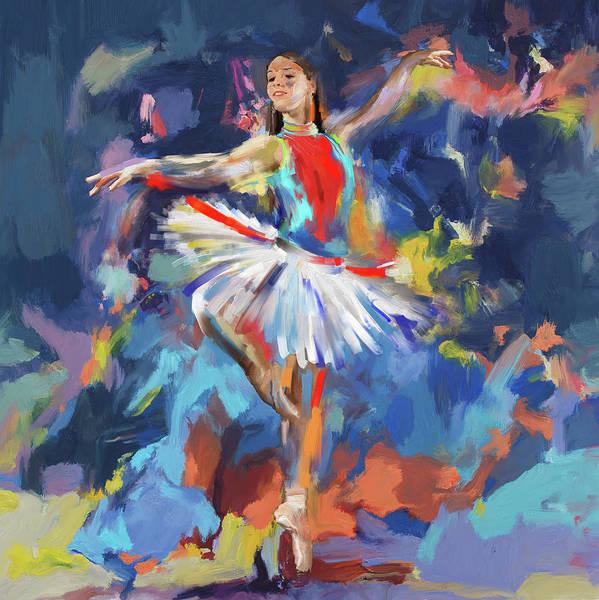 Figure Skating Painting - Dancers 279 1 by Mawra Tahreem