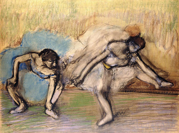 French Artist Drawing - Dancers At Rest by Edgar Degas