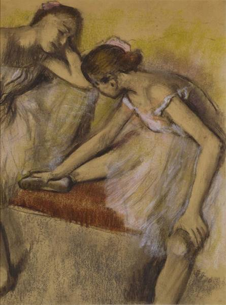 Ballerinas Painting - Dancers In Repose by Edgar Degas