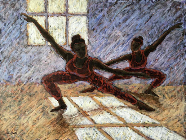 Scumble Wall Art - Painting - Dancers Near A Window by Karla Beatty
