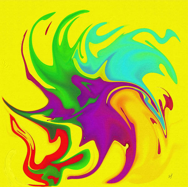 Digital Art - Dances With Color Abstract by Shelli Fitzpatrick