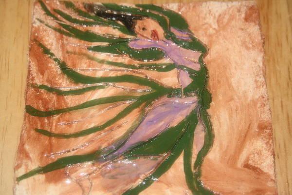 Ceramic Art - Dancing - Tile by Gloria Ssali