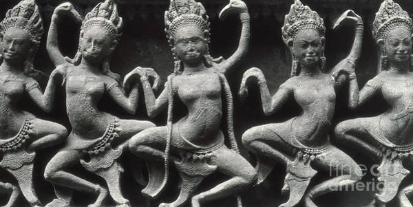 Wall Art - Relief - Dancing Apsarasas by Cambodian School