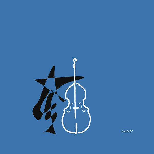 Wall Art - Digital Art - Dancing Bass In Blue by David Bridburg