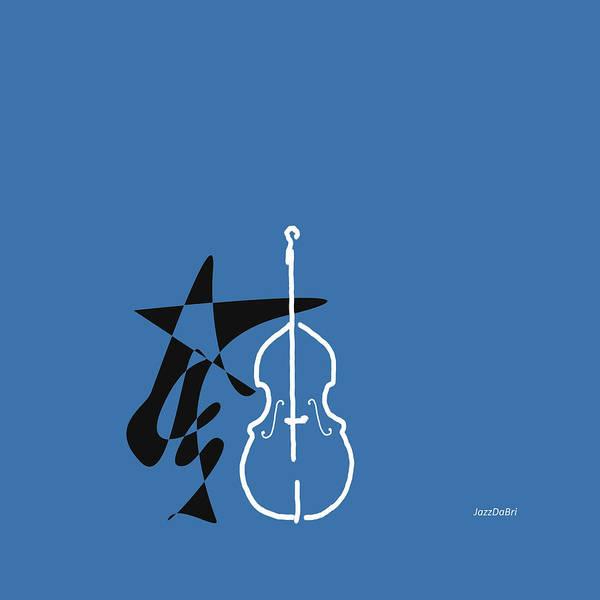 Digital Art - Dancing Bass In Blue by David Bridburg