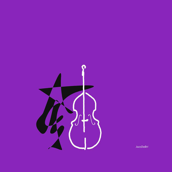 Wall Art - Digital Art - Dancing Bass In Purple by David Bridburg
