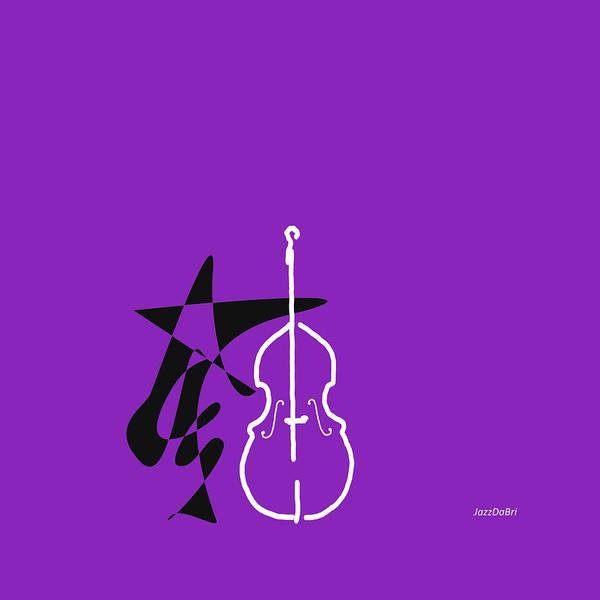 Digital Art - Dancing Bass In Purple by David Bridburg