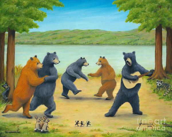 Wall Art - Painting - Dancing Bears by Jerome Stumphauzer