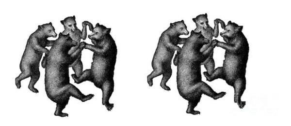 Digital Art - Dancing Bears Mug by Edward Fielding