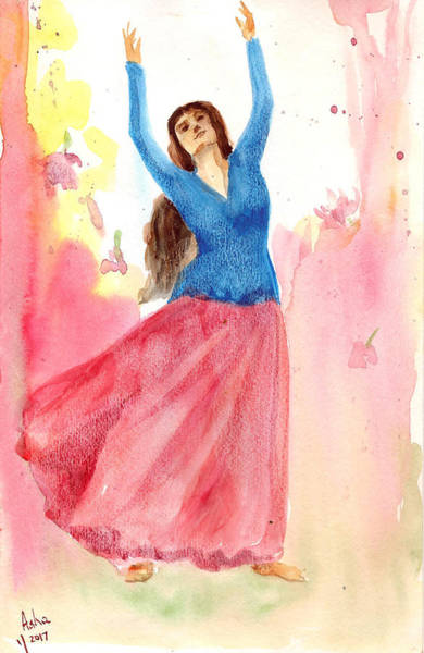 Painting - Dancing Beauty by Asha Sudhaker Shenoy