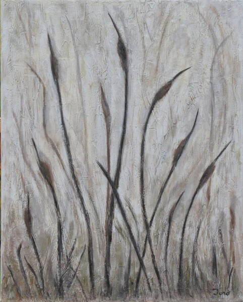 Painting - Dancing Cattails 3 by Trish Toro