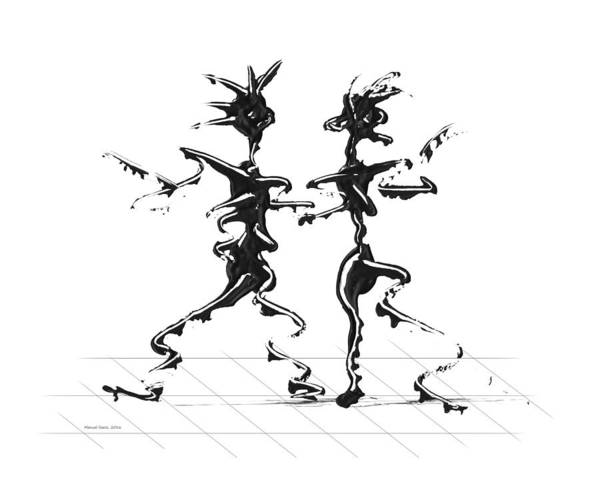 Digital Art - Dancing Couple 2 by Manuel Sueess