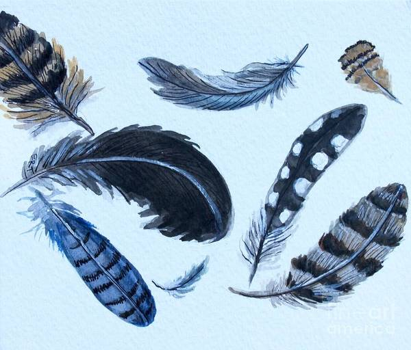 Painting - Dancing Feathers by Elizabeth Robinette Tyndall