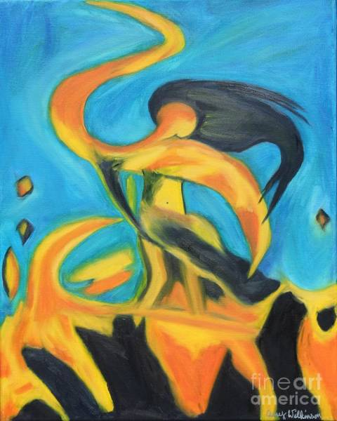 Bollywood Wall Art - Painting - Dancing Fire - Sequel by Amy Wilkinson