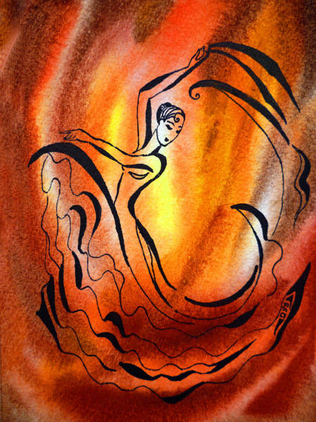 Fire Dance Wall Art - Painting - Dancing Fire I by Irina Sztukowski