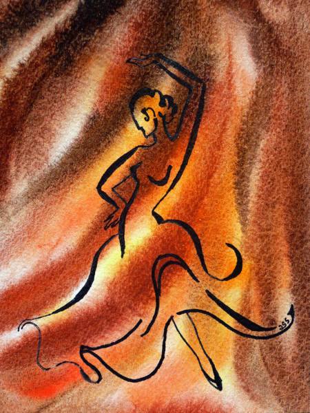Fire Dance Wall Art - Painting - Dancing Fire IIi by Irina Sztukowski