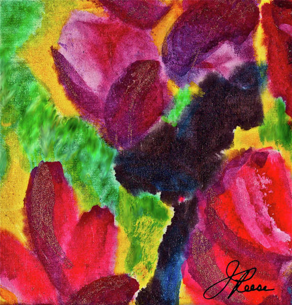 Painting - Dancing Flowers by Joan Reese