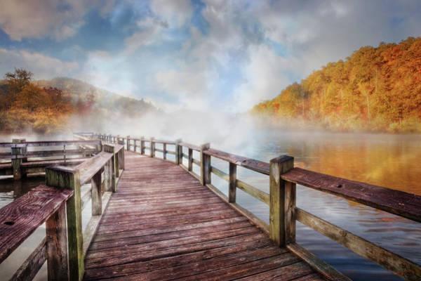Wall Art - Photograph - Dancing Fog At The Lake by Debra and Dave Vanderlaan