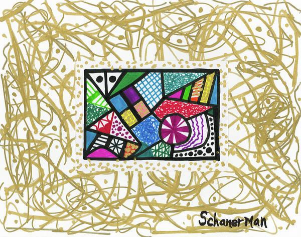 Drawing - Dancing Geometrics by Susan Schanerman