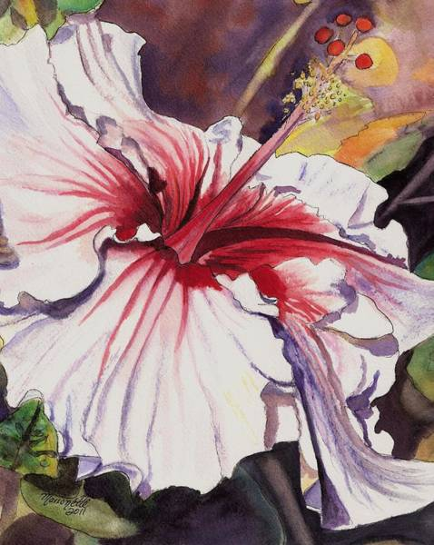 Hibiscus Flower Painting - Dancing Hibiscus by Marionette Taboniar