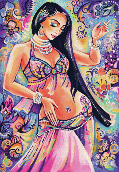Painting - Dancing In The Mystery Of Shahrazad by Eva Campbell