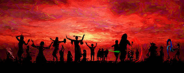 Wall Art - Digital Art - Dancing In The Sand by Edward Buxton