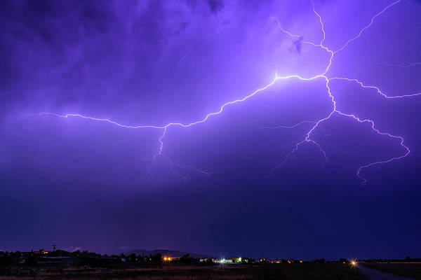 Electric Storm Photograph - Dancing In The Sky by Medicine Tree Studios