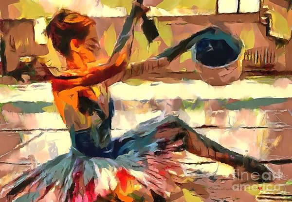 Painting - Dancing In Thick Paint by Catherine Lott