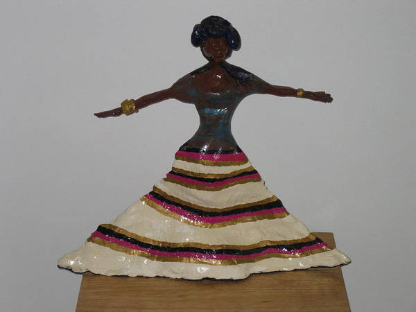 Sculpture - Dancing Lady by Gloria Ssali