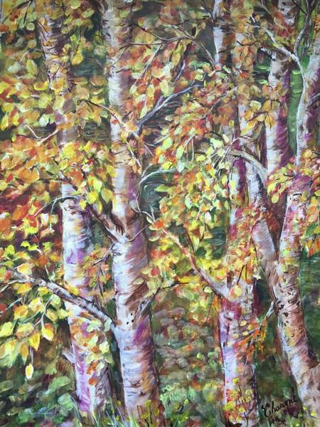 Wall Art - Painting - Dancing Leaves by Charme Curtin